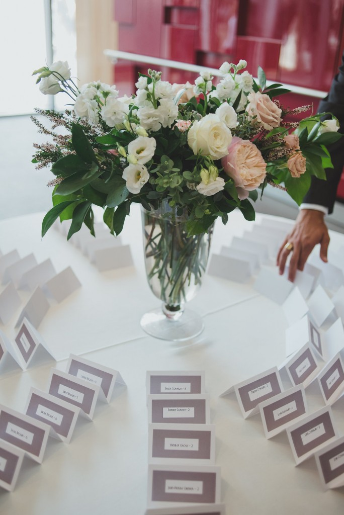 Escort card table. Classy Malaparte Wedding. Rebecca Chan Weddings and Events www.rebeccachan.ca