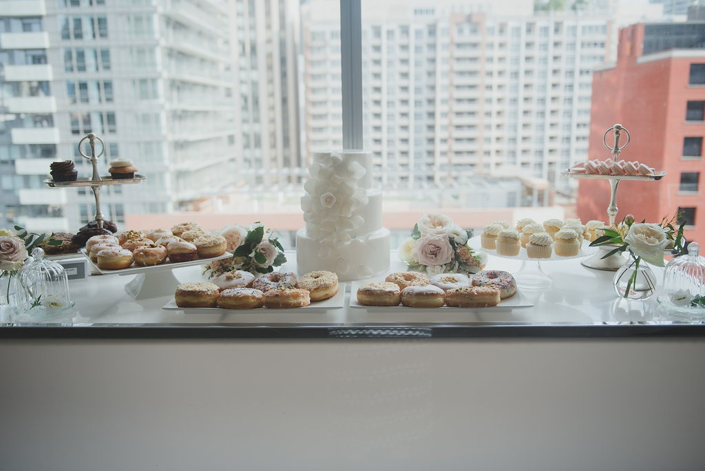 Sweets table. Classy Malaparte Wedding. Rebecca Chan Weddings and Events www.rebeccachan.ca