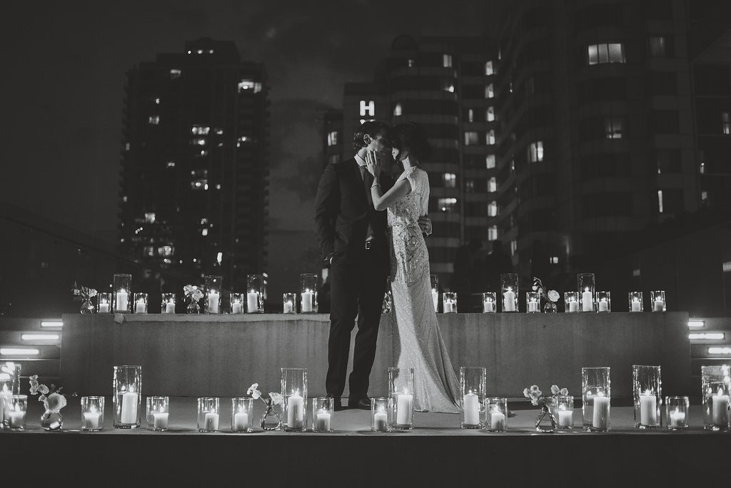 Night time candle photography. Classy Malaparte Wedding. Rebecca Chan Weddings and Events www.rebeccachan.ca
