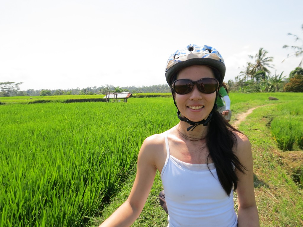 Luxury honeymoon in Bali, Indonesia - bike tour in rice fields