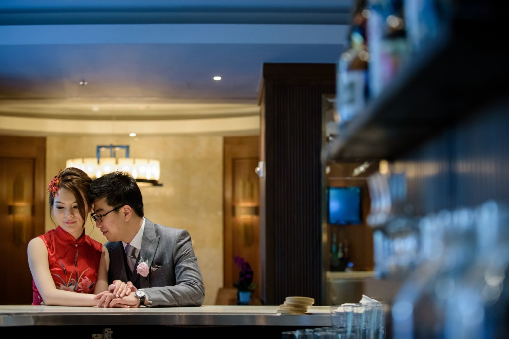 Bride in her Chinese dress - Romantic blush pink wedding at Ritz-Carlton Hotel Toronto