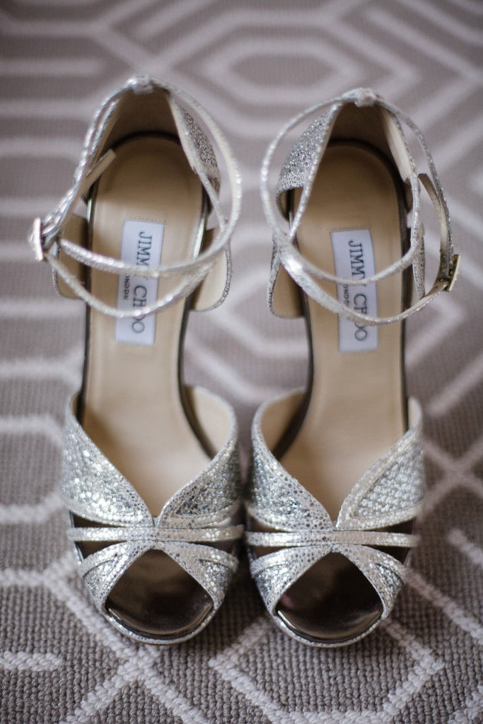 Bride's Jimmy Choo's - Romantic blush pink wedding at Ritz-Carlton Hotel Toronto