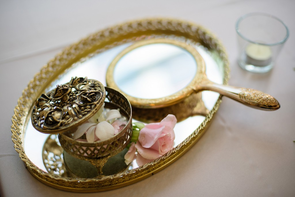 Gold accents - Romantic blush pink wedding at Ritz-Carlton Hotel Toronto
