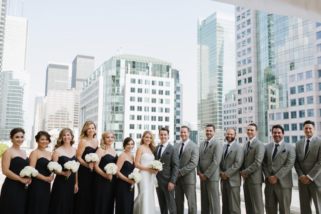 Modern white wedding at Malaparte