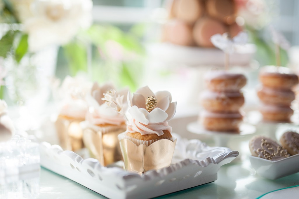 Blush Pink Ontario Winery wedding - luxury sweets table
