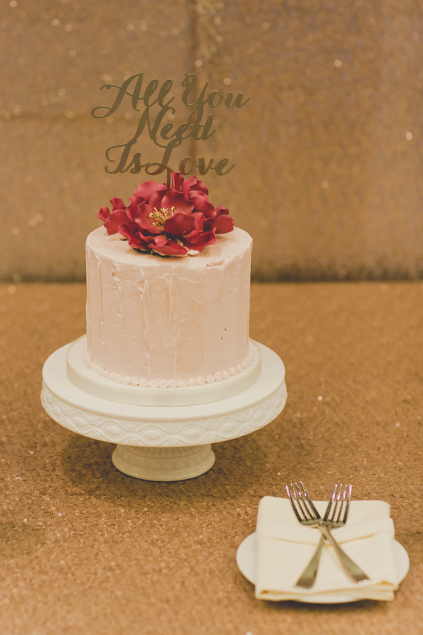 Modern Chic Fuschia and Peach Wedding