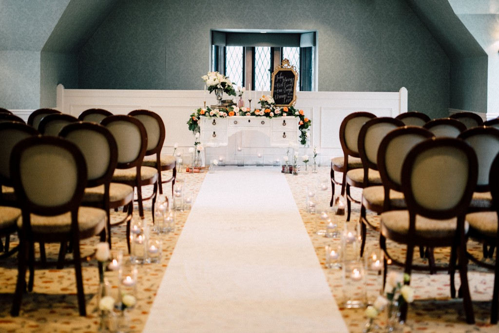 Estates of Sunnybrook indoor ceremony inspiration