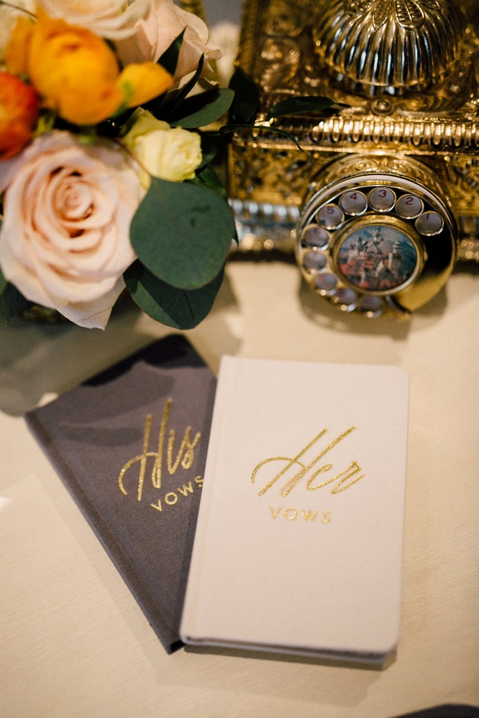 Estates of Sunnybrook indoor ceremony inspiration - his and her vow books