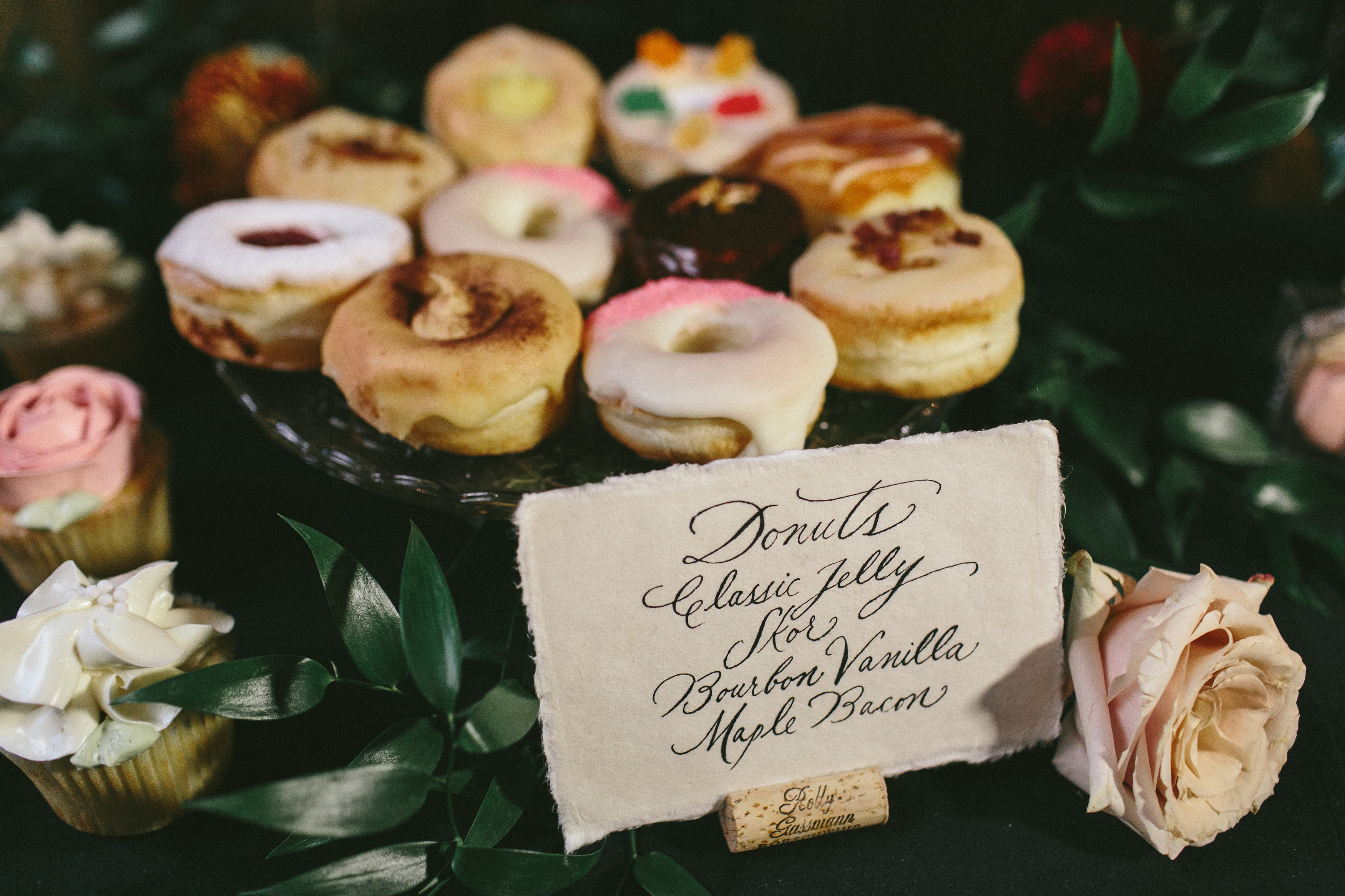 Elegant and Rustic Toronto Wedding in the Distillery District - Wedding doughnuts