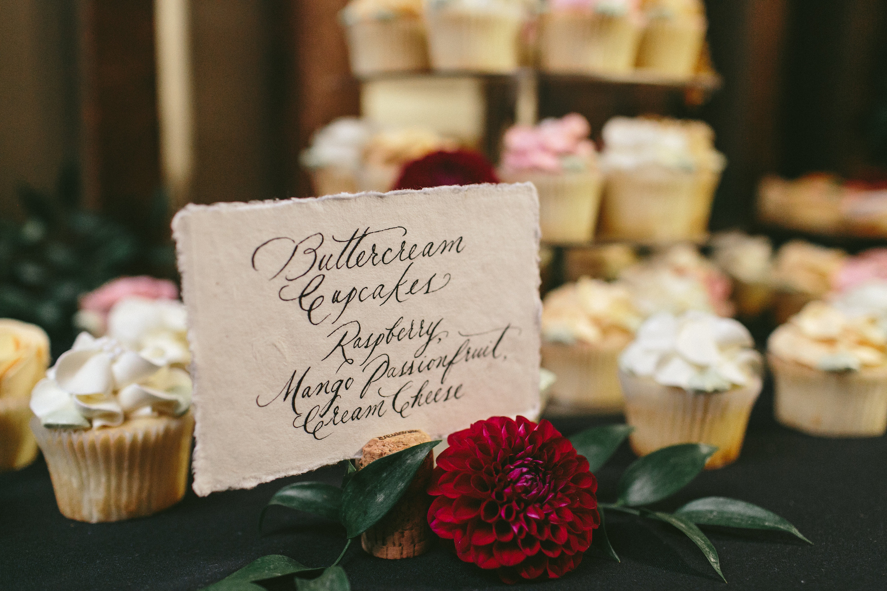 Elegant and Rustic Toronto Wedding in the Distillery District - Hand lettered signage
