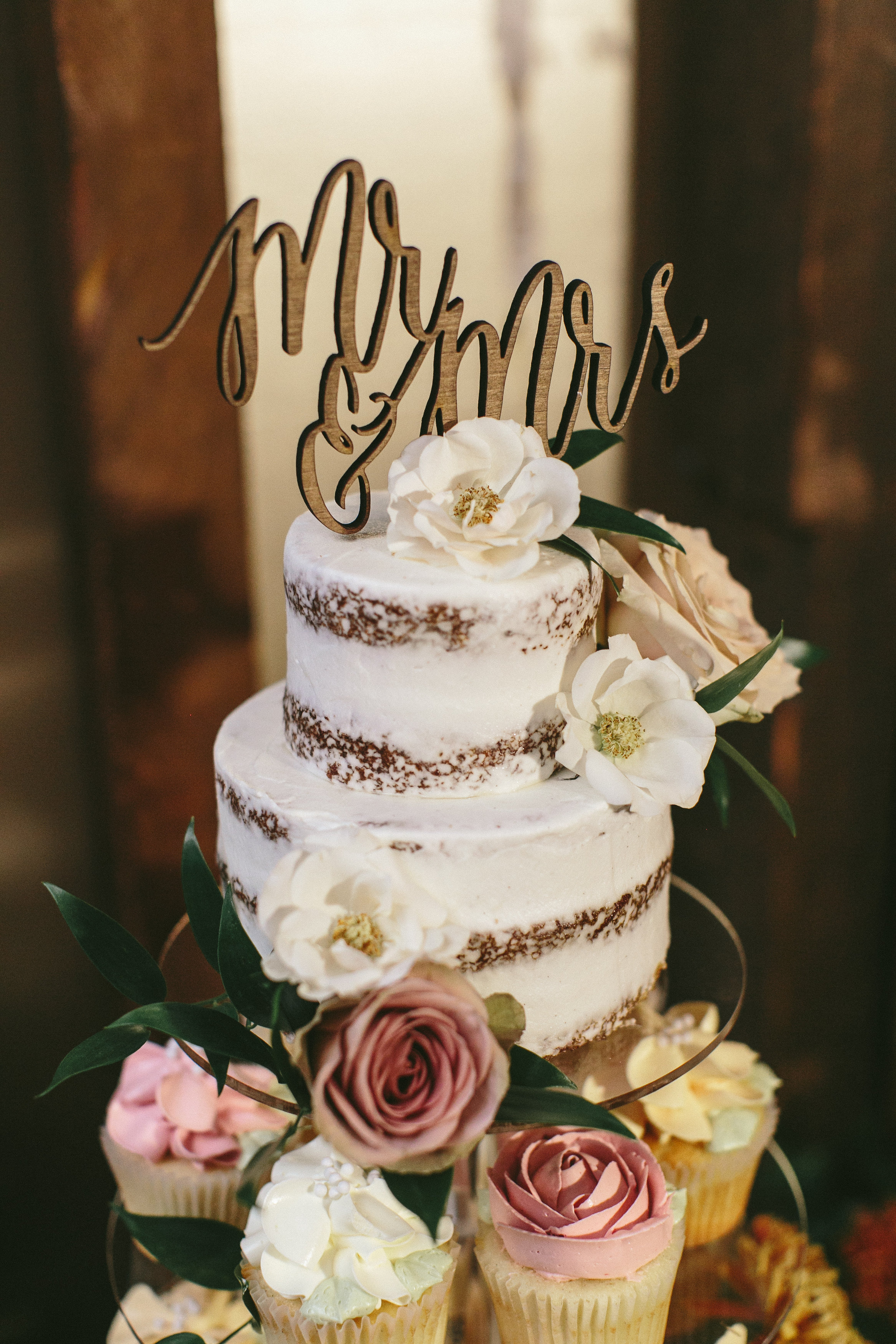 Elegant and Rustic Toronto Wedding in the Distillery District - Wedding cake topper