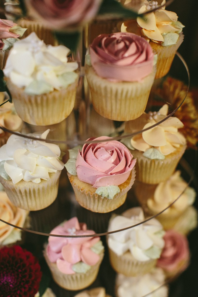 Elegant and Rustic Toronto Wedding in the Distillery District - Buttercream cupcakes from Bobbette and Belle
