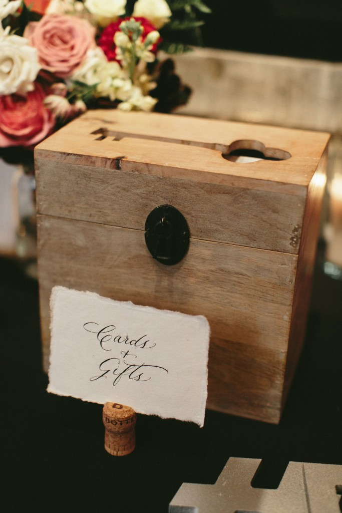 Elegant and Rustic Toronto Wedding in the Distillery District - card box