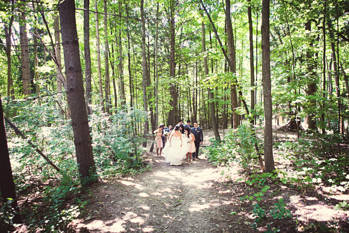 Quirky outdoor wedding at Kortright Centre