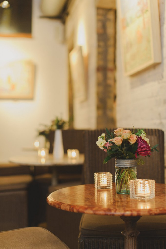 Intimate wedding at Balzac's in the Distillery District