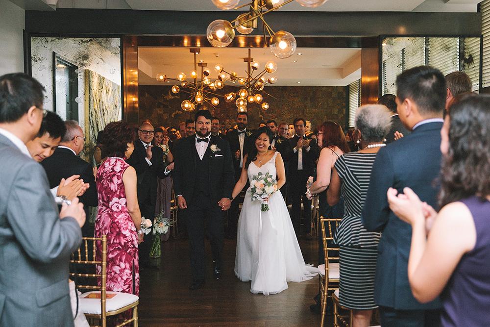 Modern wedding at Canoe Restaurant