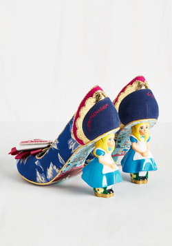 Modcloth Alice in wonderland shoe collection - Curious feeling heel with Alice