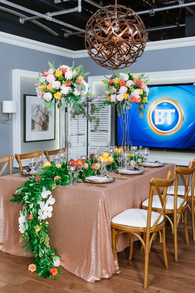 Our summer garden inspired table featured in the Cityline Wedding Special. Designed by Rebecca Chan Weddings and Events www.rebeccachan.ca