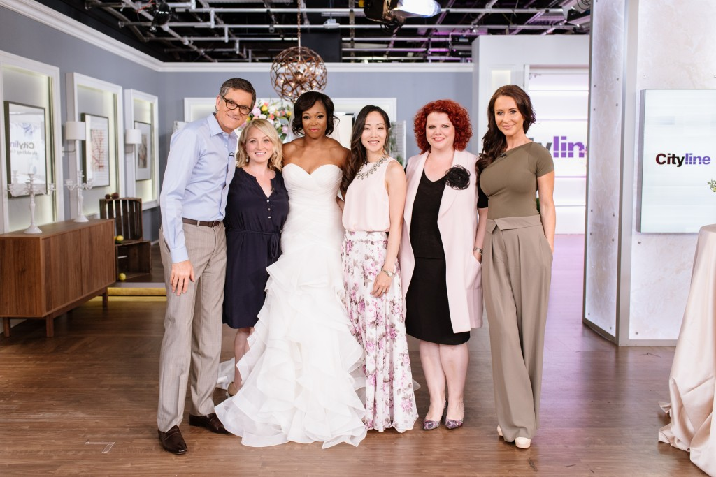 Cityline's wedding special with Rebecca Chan, Brian Gluckstein, Jessica Mulroney from Kleinfeld, Alison McGill from Weddingbells, Tracy Moore and Leigh Ann Allaire Perrault