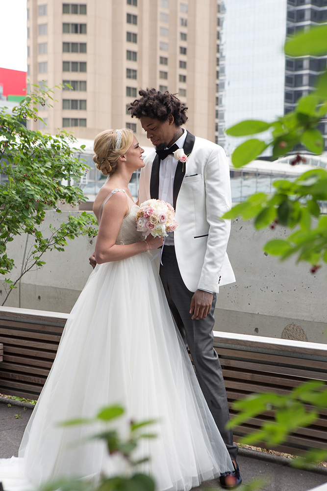 Modern Blush Wedding with Lucas Nogueira of the Toronto Raptors