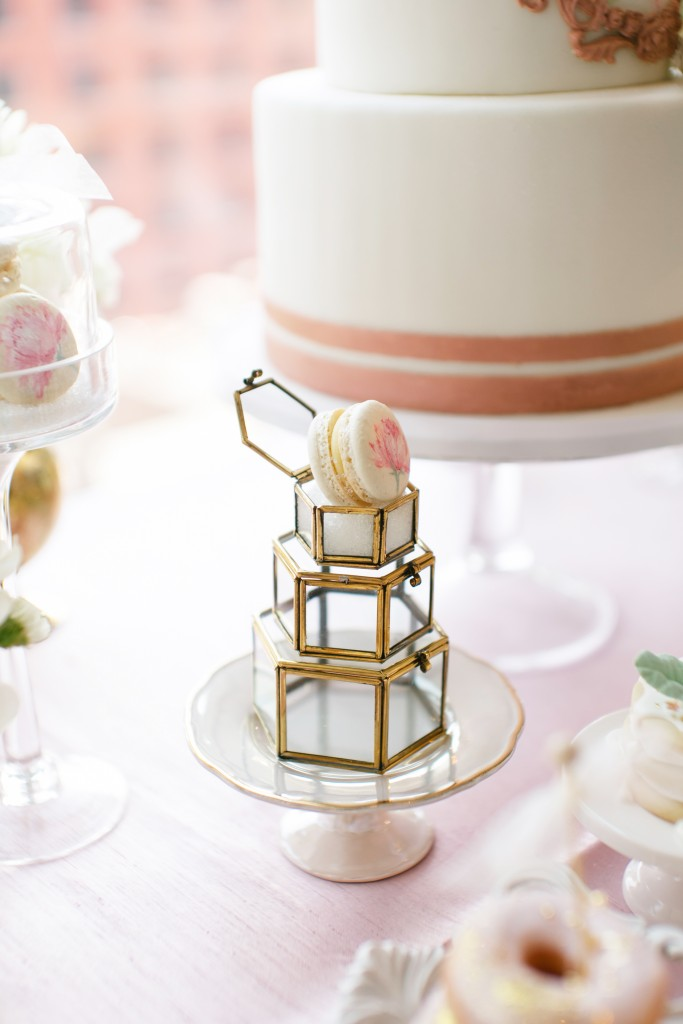 Sweets table - Ombre and Blush Wedding at Malaparte