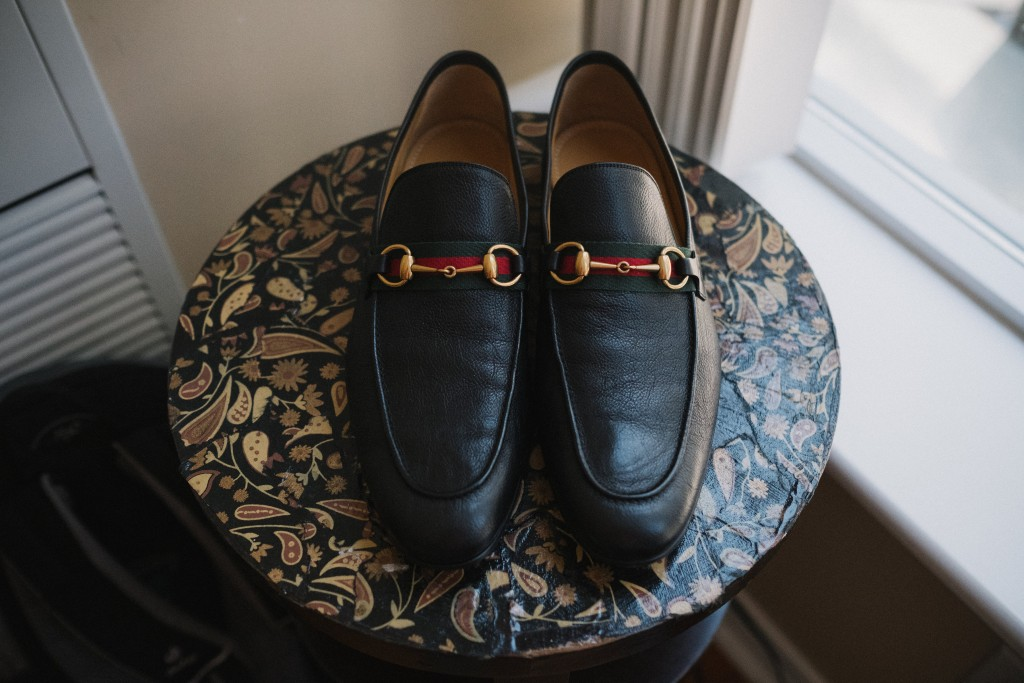 Groom's Gucci shoes - Whimsical wedding at Toronto Board of Trade