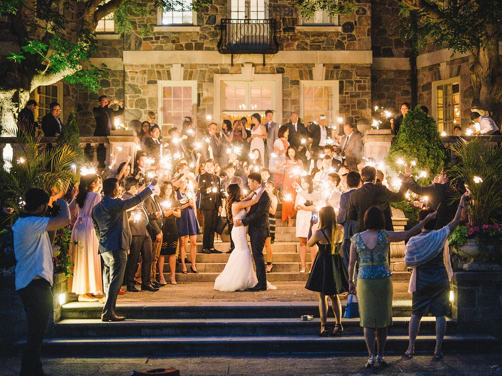 Sparklers First Dance - Elegant Graydon Hall Manor wedding