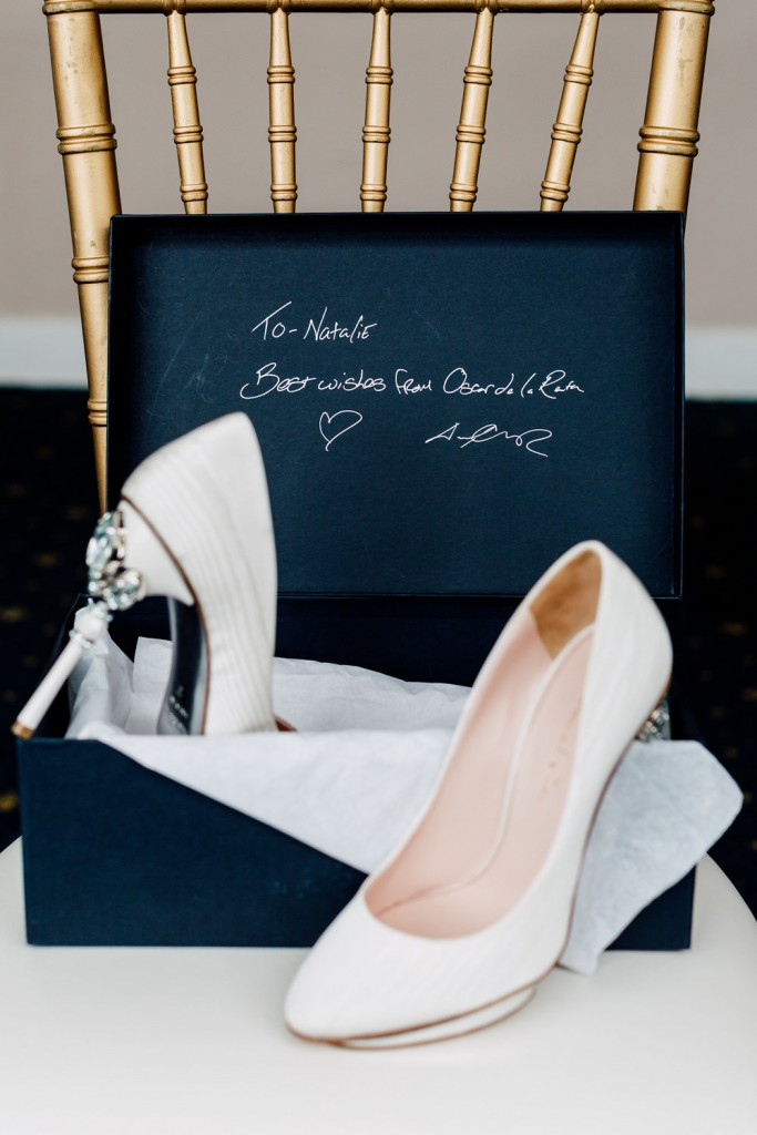 Oscar de la renta bridal shoes - Regatta Inspired Wedding at Royal Canadian Yacht Club