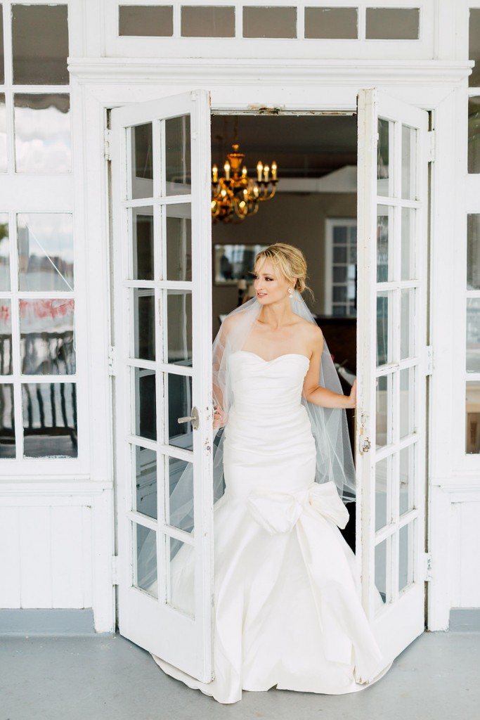 Bride in Oscar de la Renta - Regatta Inspired Wedding at Royal Canadian Yacht Club