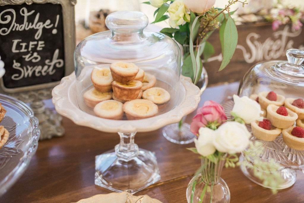 Organic Sweets table - Rustic outdoor tented wedding