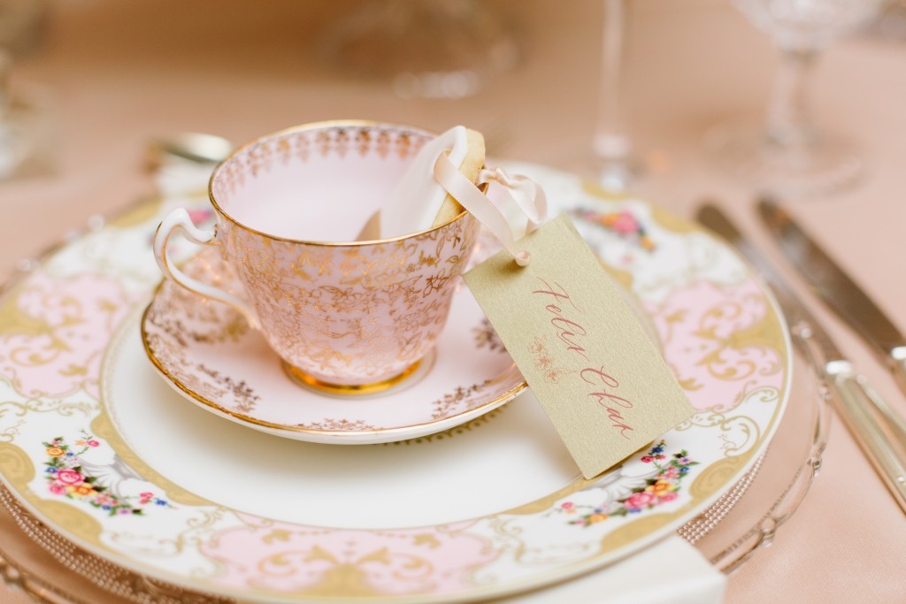 Mismatched vintage china - Afternoon Tea Inspired Wedding at Graydon Hall Manor