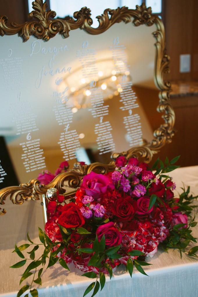 Vintage gold seating chart - Modern Chinese wedding at Ritz-Carlton Toronto