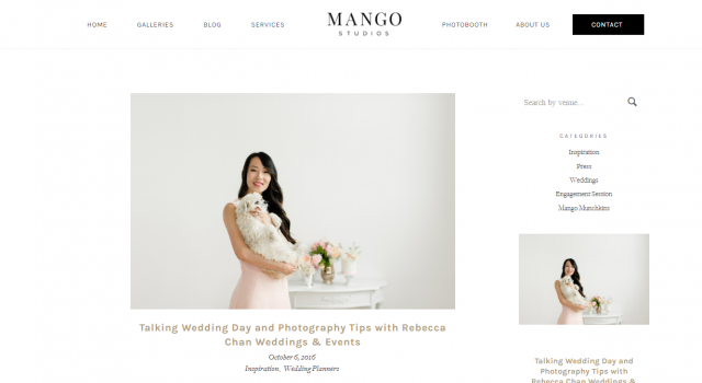 Toronto Wedding planner Rebecca Chan shares photography tips with Mango Studios