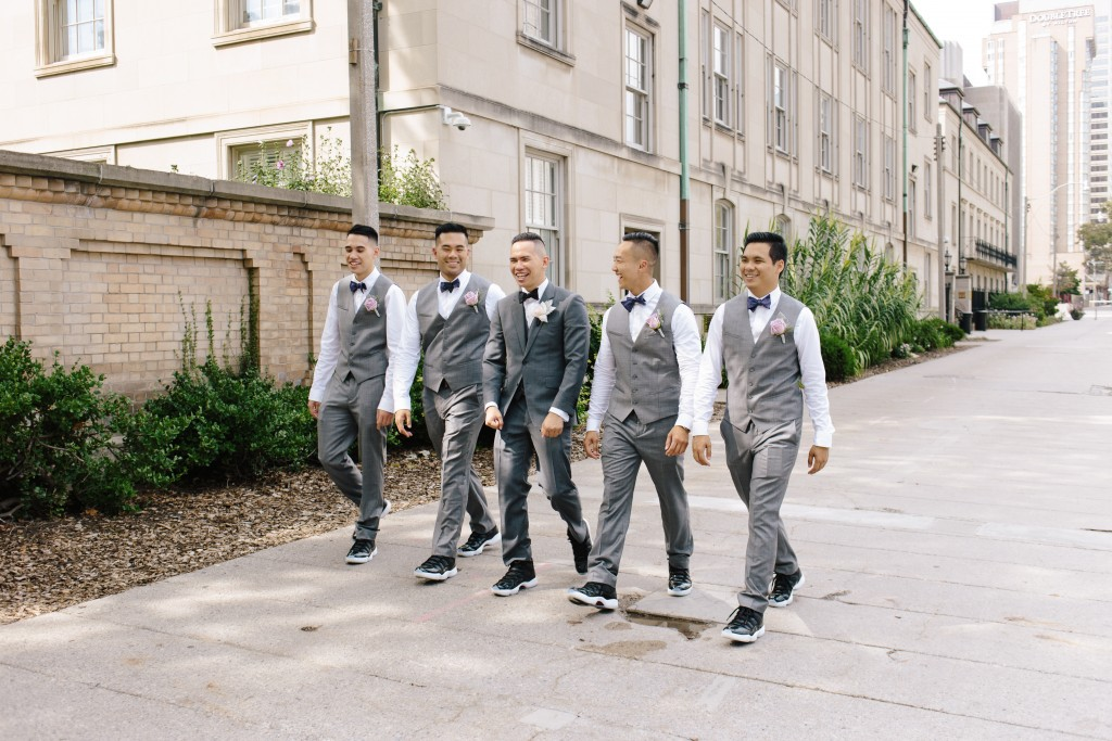 Arcadian Court wedding - groom and groomsmen sneakers
