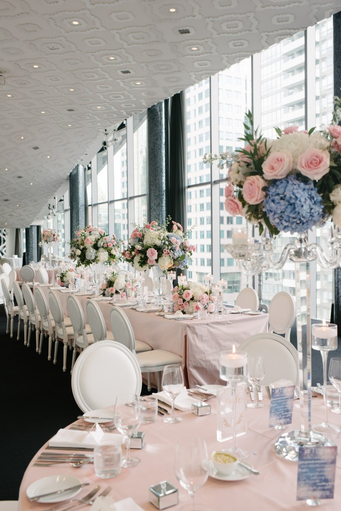 Blush and Blue Wedding at Malaparte