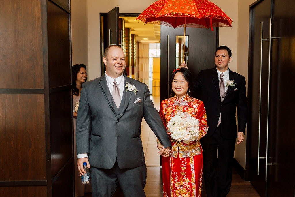 Tea Ceremony - Romantic Pink and Gold Wedding at Omni King Edward Hotel