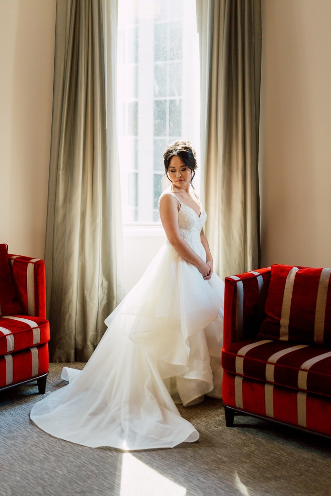 The bride - Romantic Pink and Gold Wedding at Omni King Edward Hotel