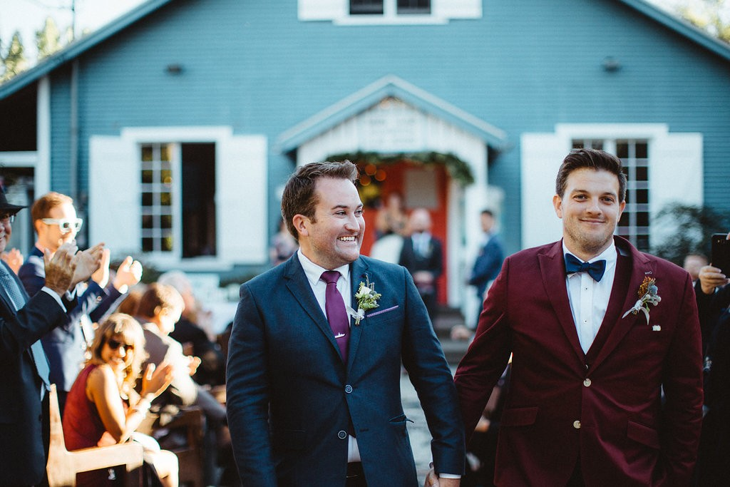 Rustic gay wedding at Toronto's Ward's Island. Rebecca Chan Weddings and Events www.rebeccachan.ca