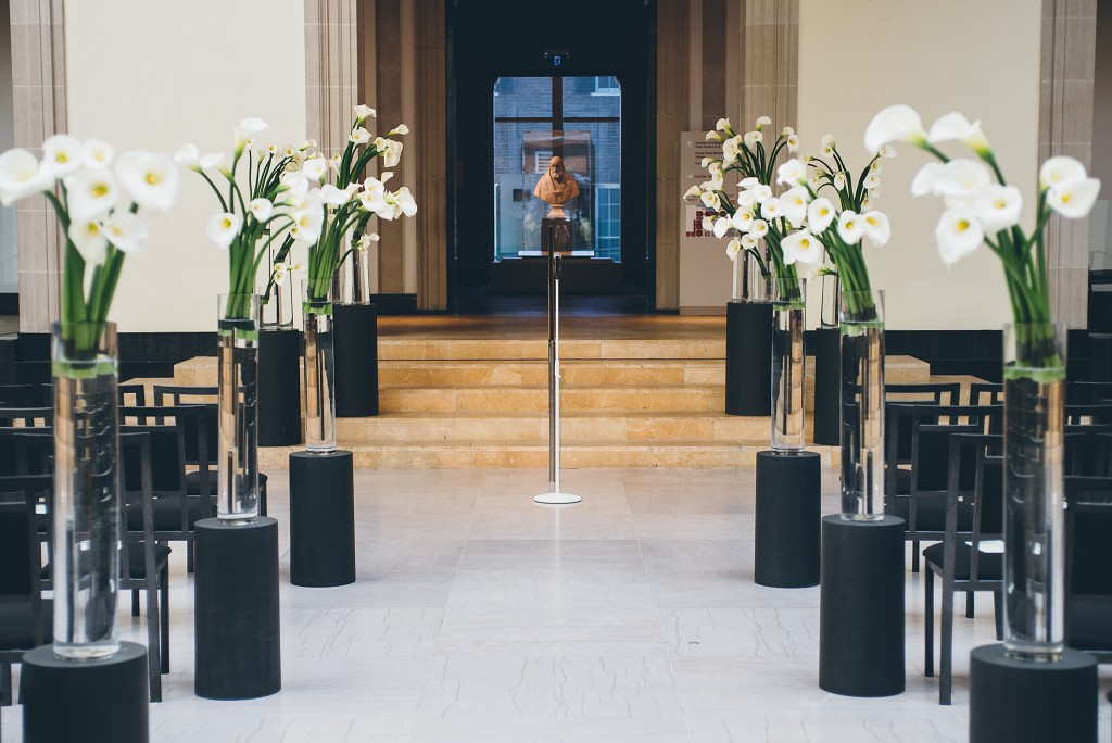 Modern AGO Art Gallery of Ontario wedding ceremony