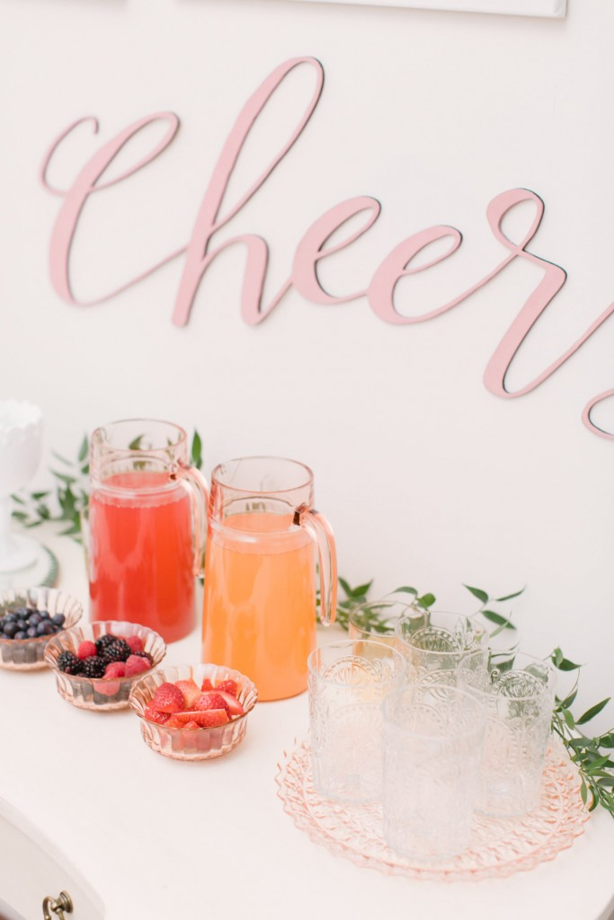 Beverage station - At-home party planning ideas with event planner Rebecca Chan