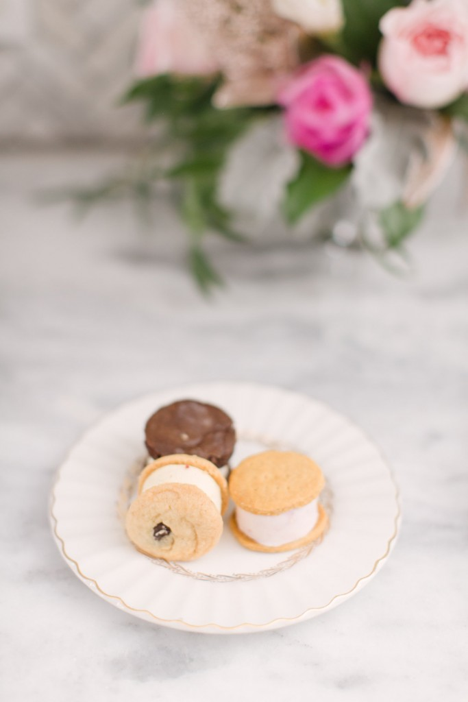 Gourmet ice cream cookie sandwiches- At-home party planning ideas with event planner Rebecca Chan