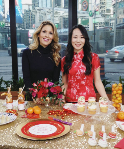 Rebecca Chan on Breakfast Television for Chinese New Year