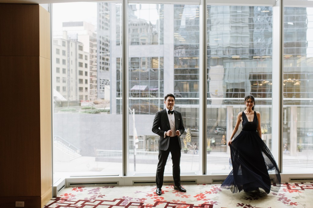 Modern wedding at Shangri-La Hotel Toronto