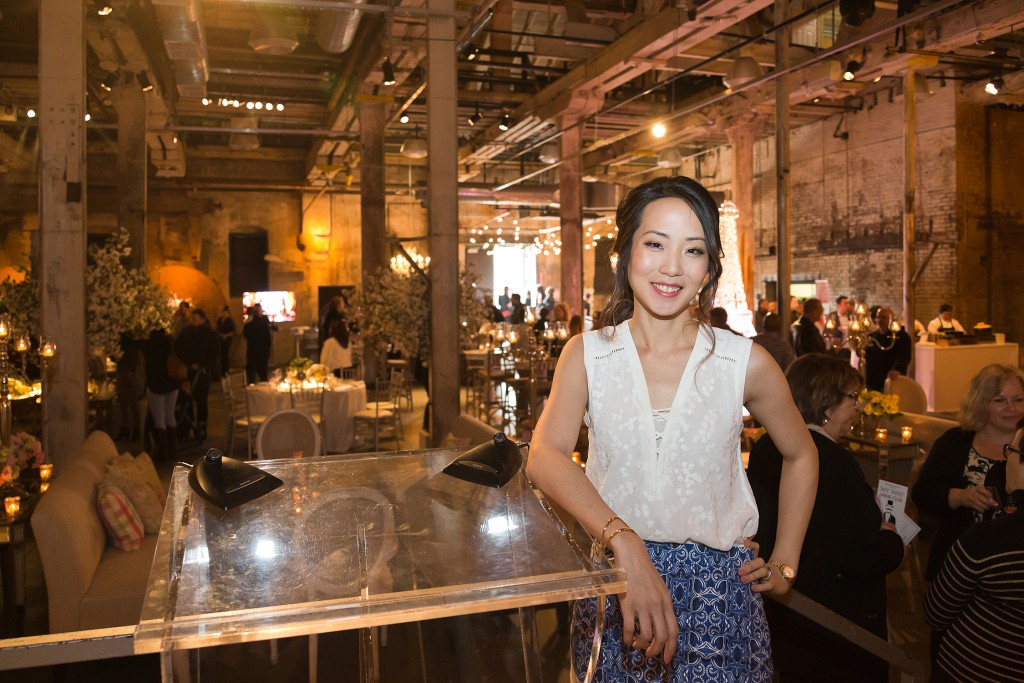 Wedding planner Rebecca Chan at the Distillery Events Open House. Photo: 424u Photography.