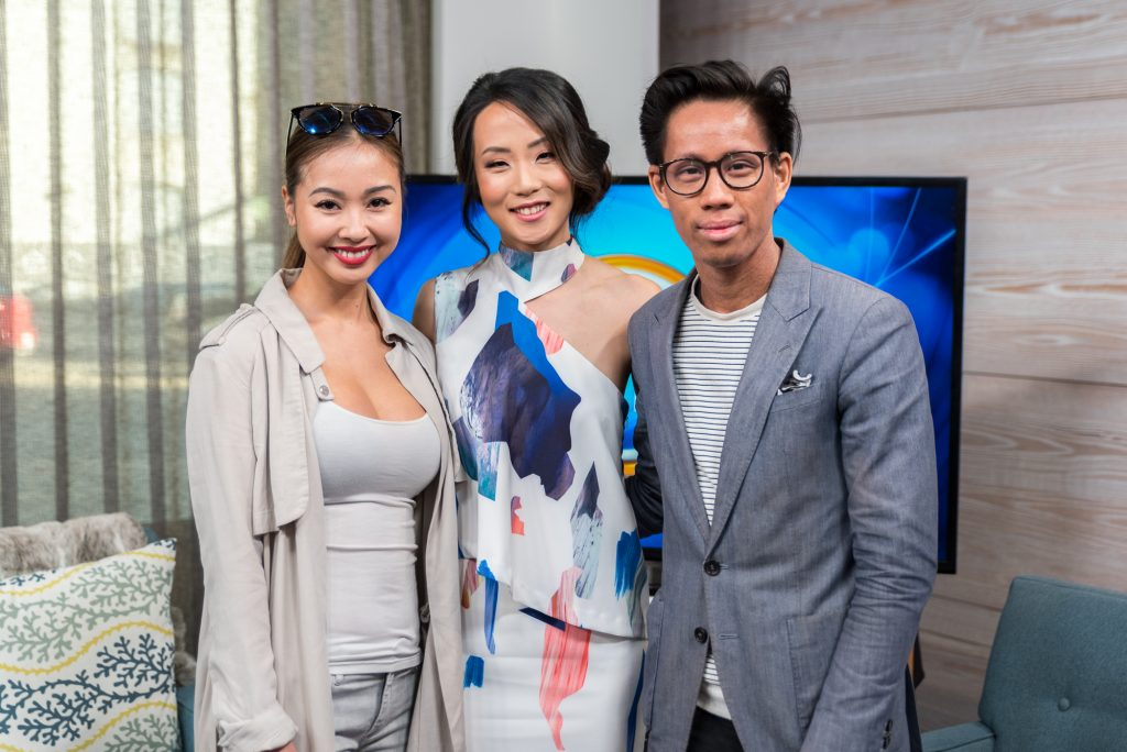 Wedding Planner Rebecca Chan with Garrison Bespoke and Ferre Sposa on Breakfast Television Toronto on wedding fashion trends