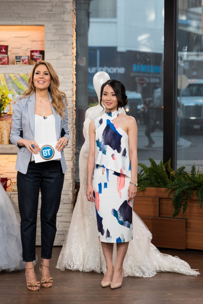 Wedding Planner Rebecca Chan with Dina Pugliese on Breakfast Television Toronto on wedding fashion trends
