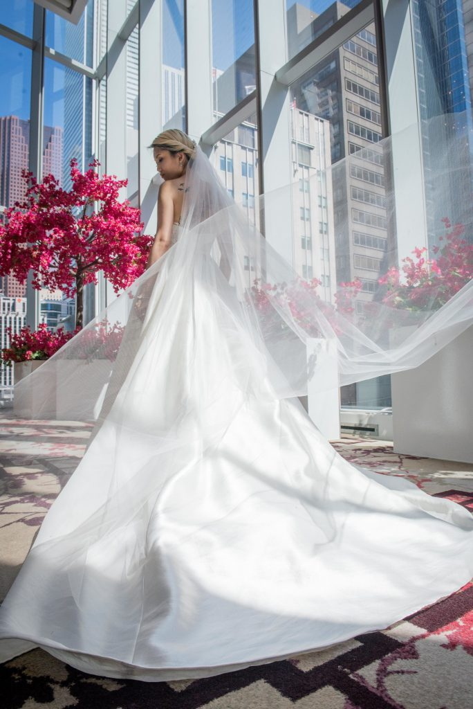 Ferre Sposa wedding gowns with Rachel A. Clingen bouquets