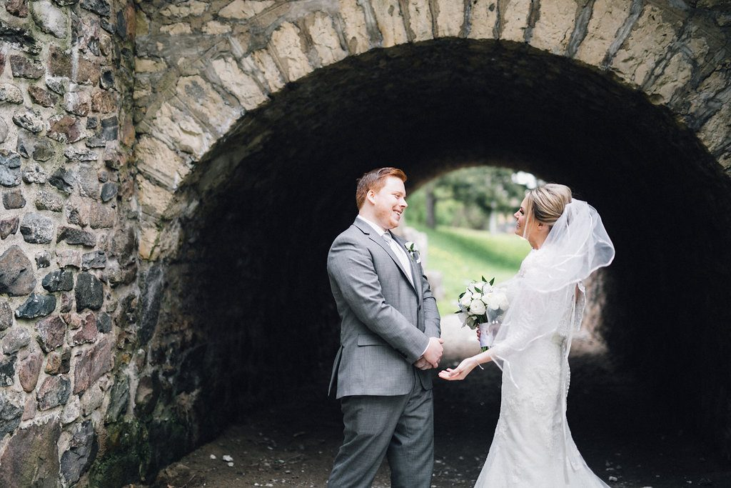 Gorgeous Whistle Bear Golf Club Wedding - first look reaction