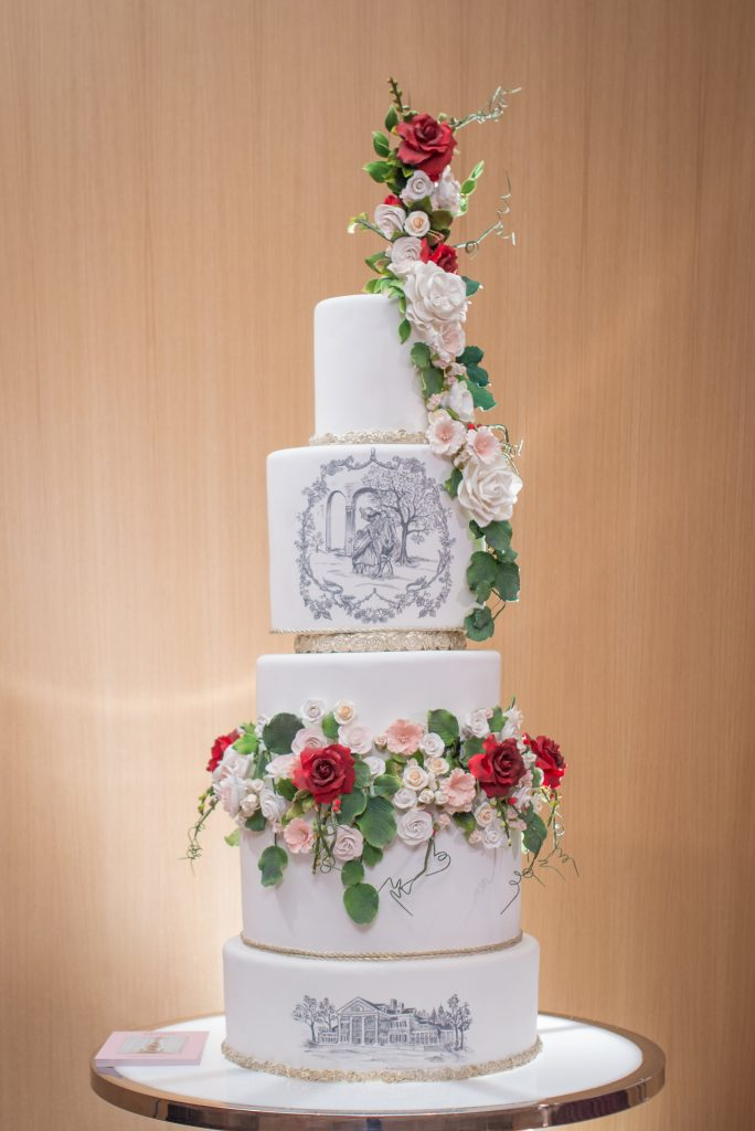 Wedding cake from Fine Cakes by Zehra