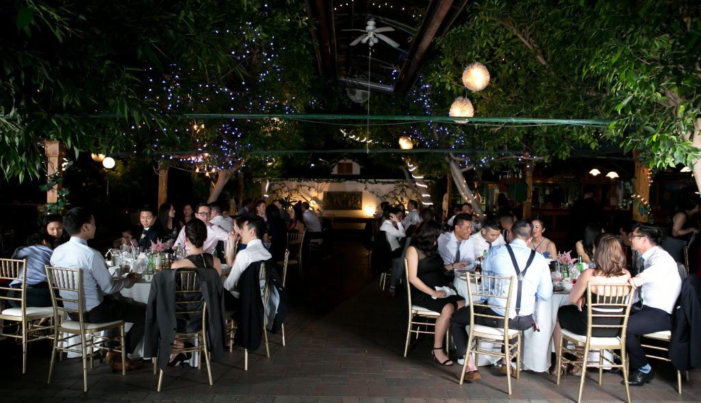 Elegant Madsen's Greenhouse wedding - dining